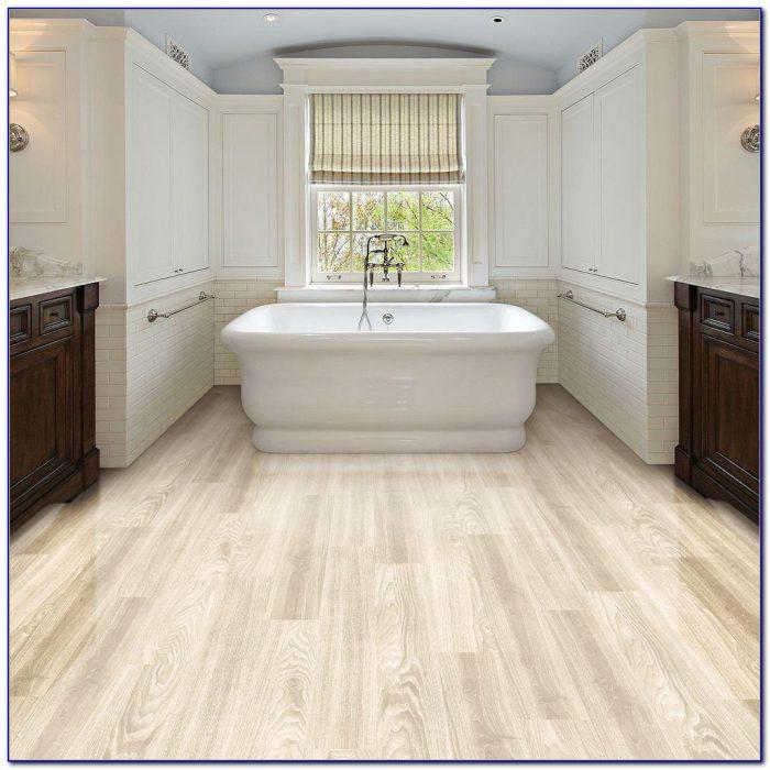 Resilient Vinyl Plank Flooring In Bathroom