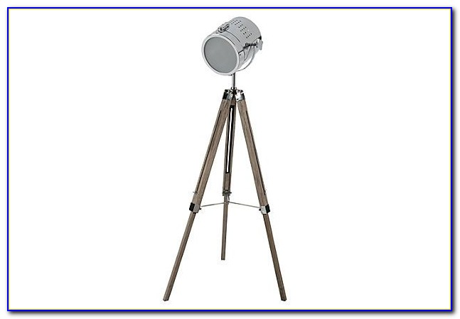 Retro Tripod Studio Floor Lamp Black Gold