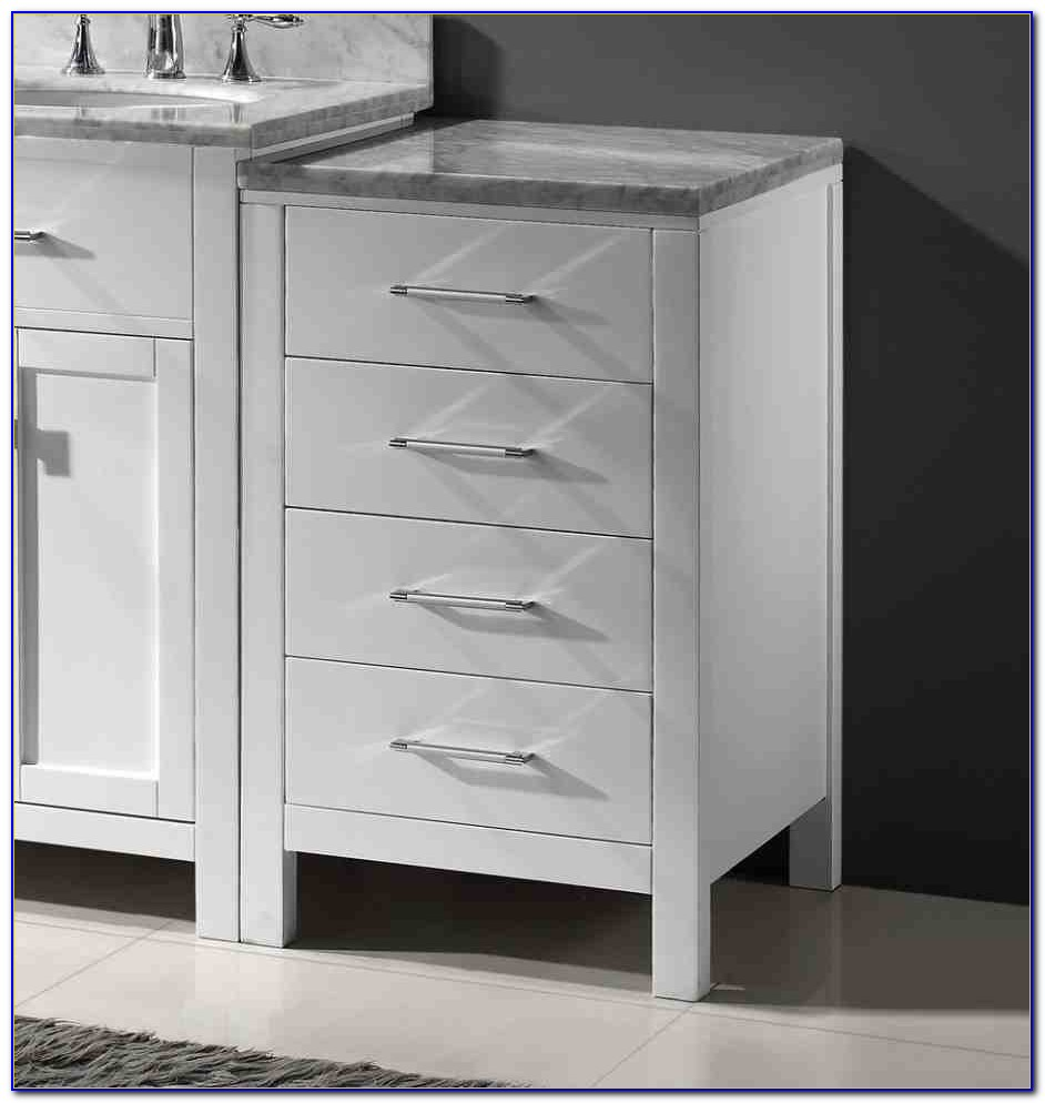 Slim Bathroom Floor Storage Cabinet