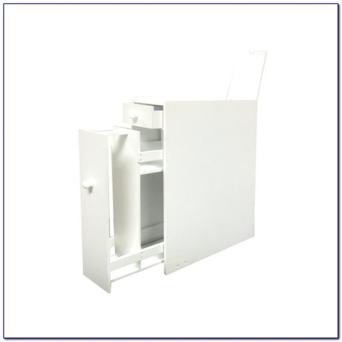 Small Bathroom Floor Cabinet White