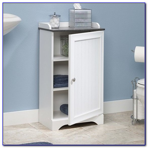 Small Bathroom Floor Storage Cabinet
