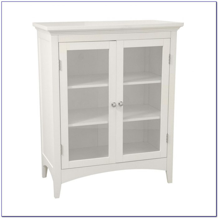 Tall Floor Cabinet With Glass Doors