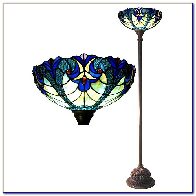 Tiffany Style Torchiere Table Lamp