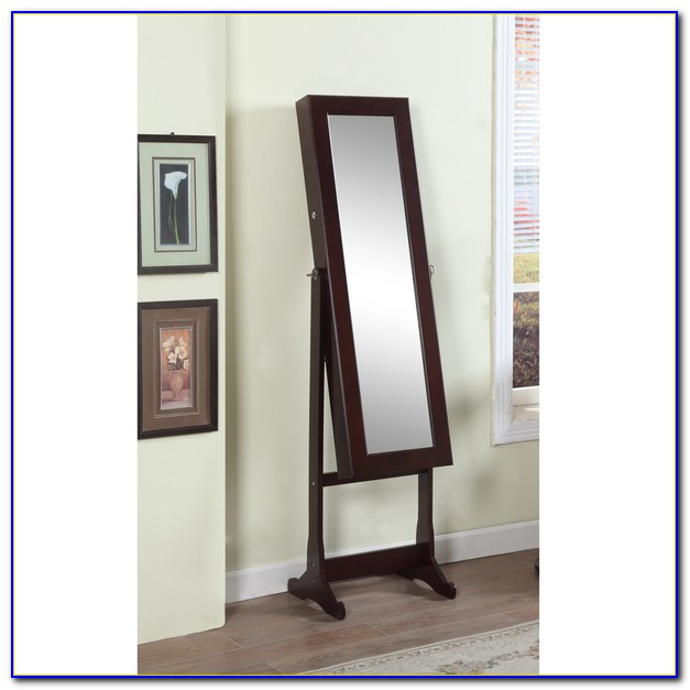 Floor length mirror jewelry armoire flooring home for White floor length mirror