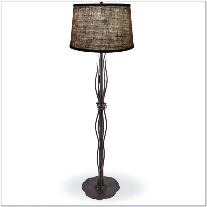 Wrought Iron Floor Lamp Antique