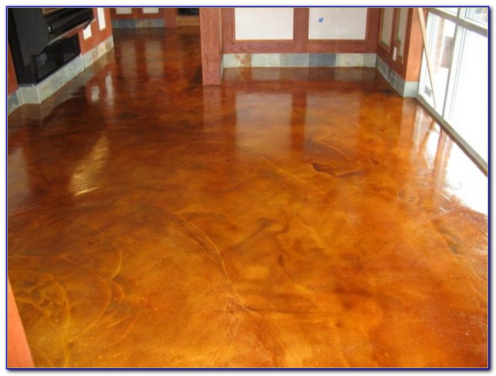 Acid Stained Concrete Floors Outside