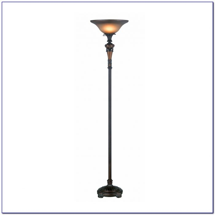 Alton Bronze Torchiere Floor Lamp With Reader And Cfl Bulb