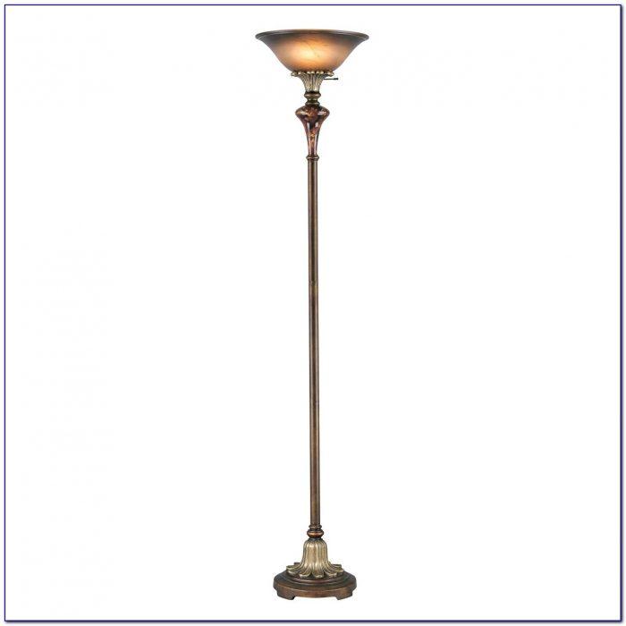 Antique Brass Torchiere Floor Lamp