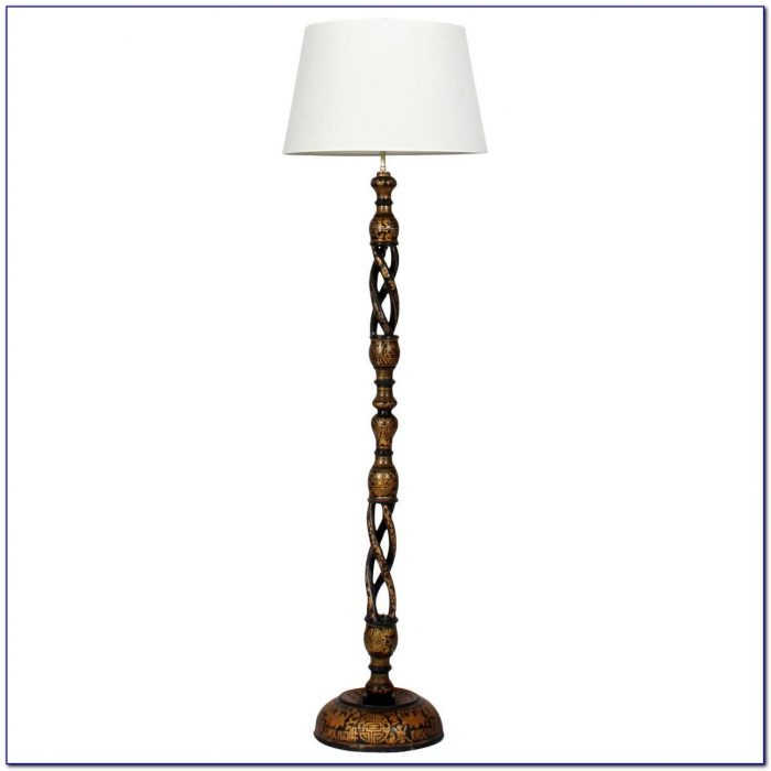 Barley Twist Floor Lamp Antique