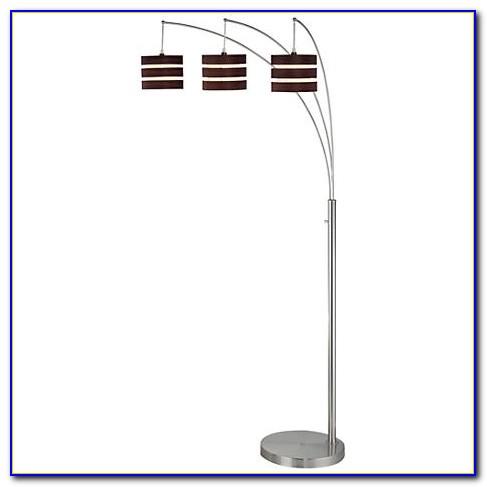Basque Steel And Brushed Nickel Arc Floor Lamp