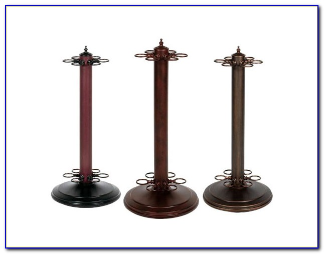 Black Pool Cue Floor Rack