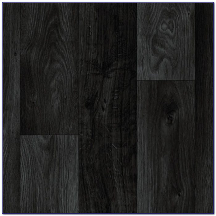 Black Vinyl Wood Plank Flooring