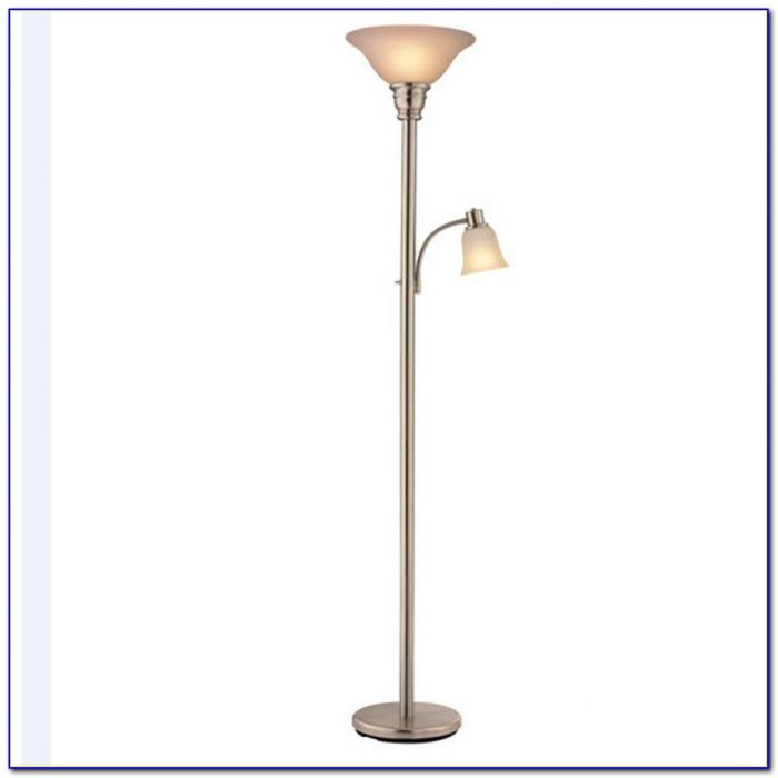 Brushed nickel floor lamp with shelves flooring home for Remote control floor lamp target
