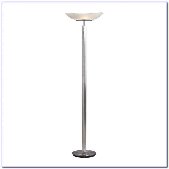 Brushed Nickel Torchiere Floor Lamp