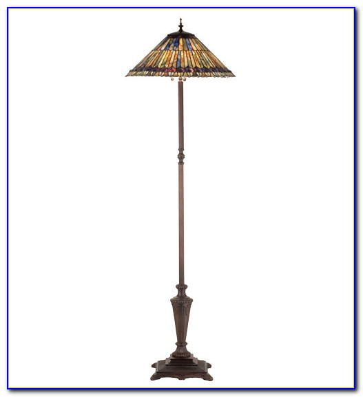 Dale Tiffany Aldridge Peacock Floor Lamp