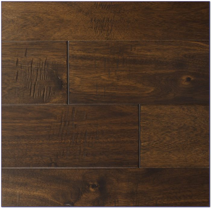 Dark Hardwood Floors With Oak Cabinets