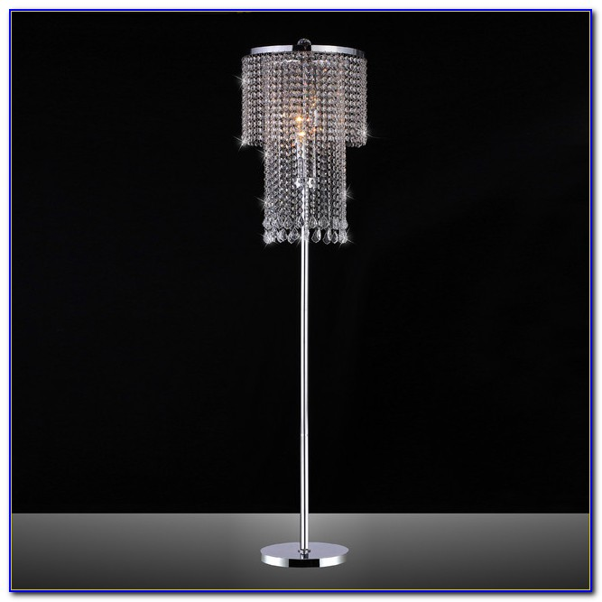 Silver Floor Lamp With Crystals Flooring Home Design