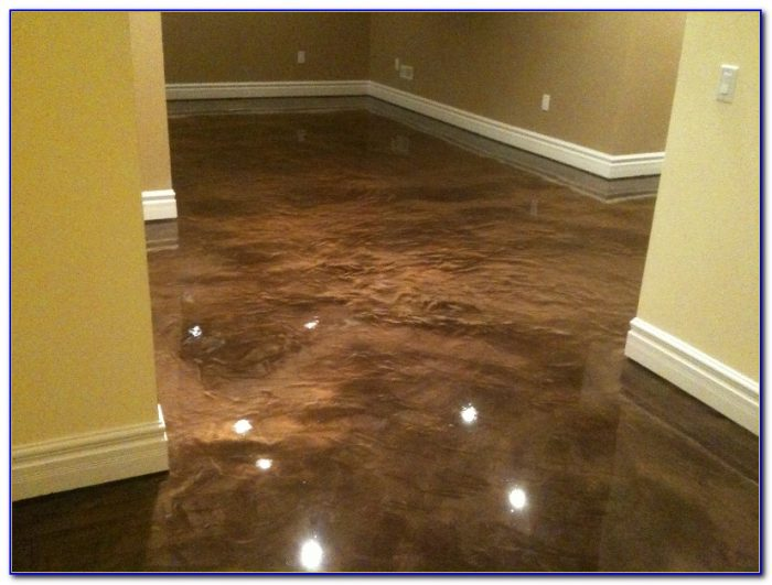 Epoxy finish for basement floor flooring home design for Basement floor covering ideas