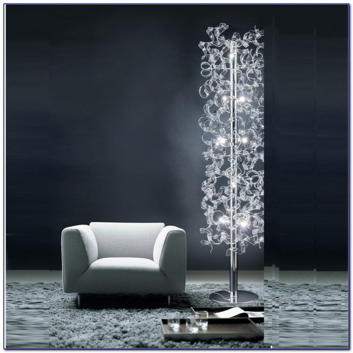 Floor Lamp Shade With Crystals