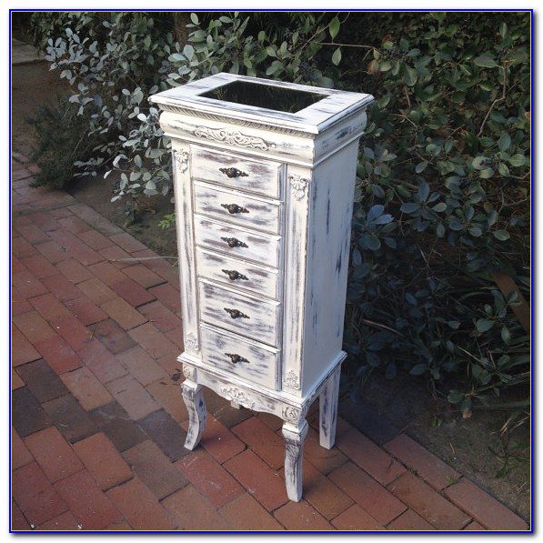 Floor Standing Jewelry Box With Mirror