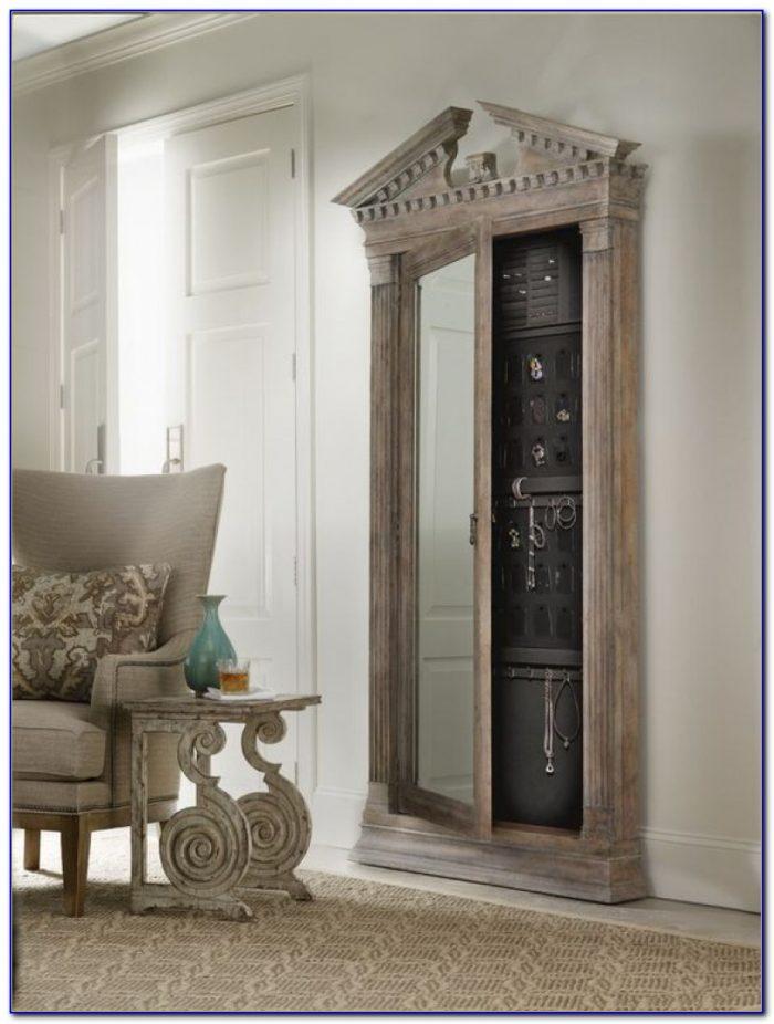 Floor Standing Mirror Jewelry Cabinet