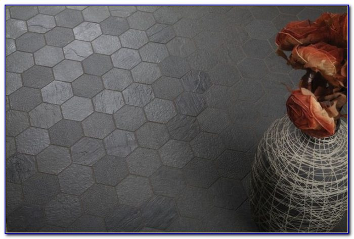 Grey Hexagon Mosaic Floor Tiles