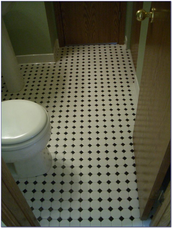 Grey Mosaic Floor Tiles Bathroom