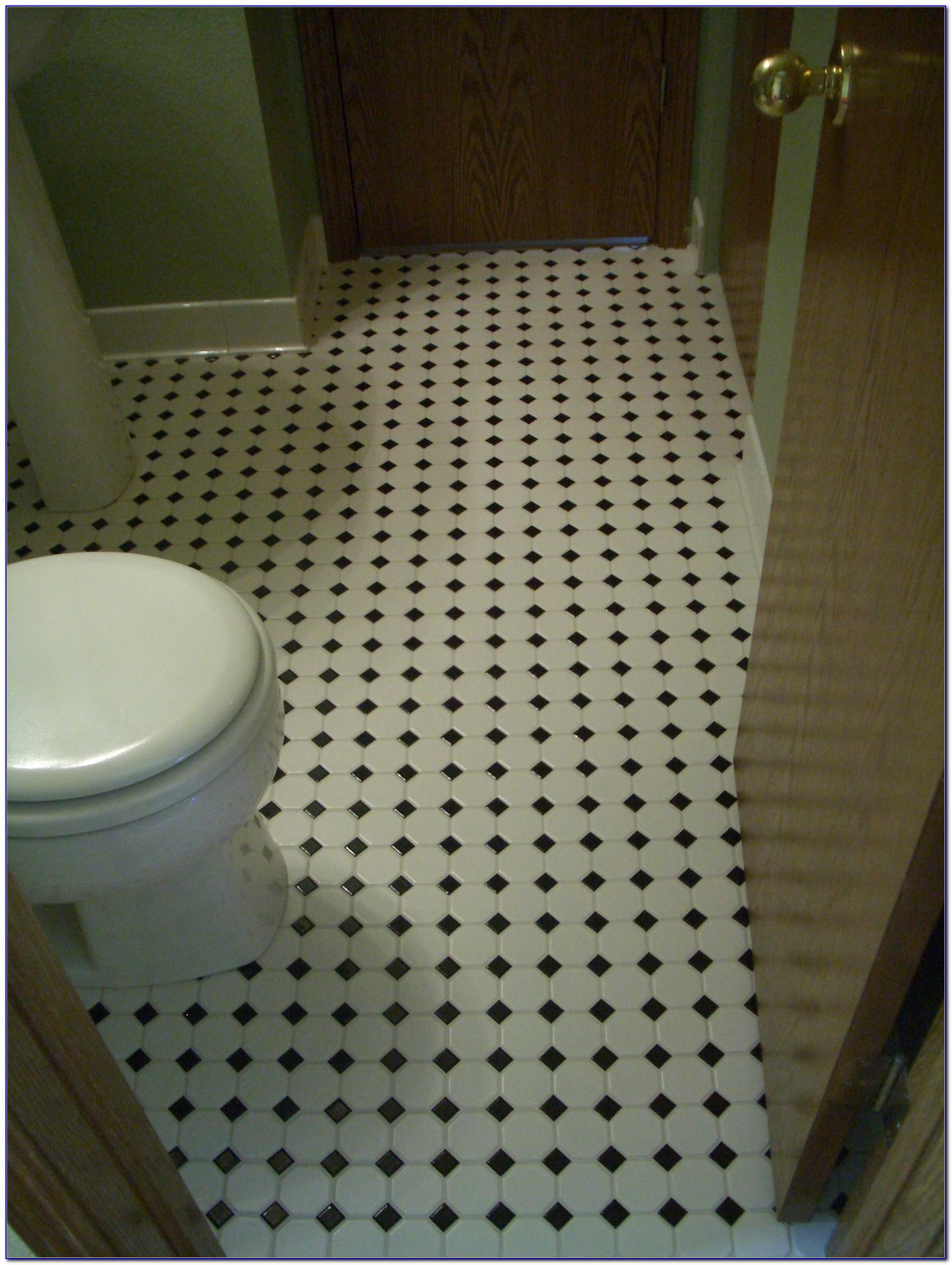 Grey Mosaic Floor Tiles Bathroom