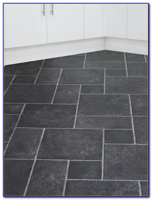 Black Porcelain Slate Effect Floor Tiles Flooring Home