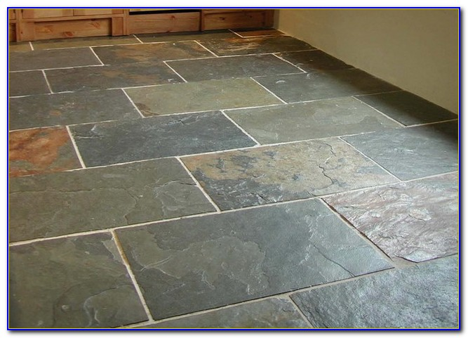 Grey Slate Floor Tiles Kitchen