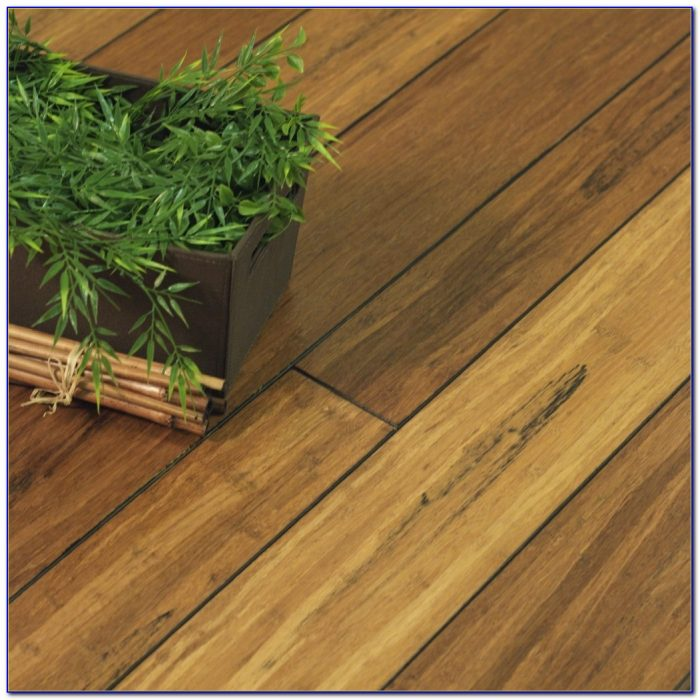 Hand Scraped Solid Strand Woven Bamboo Flooring