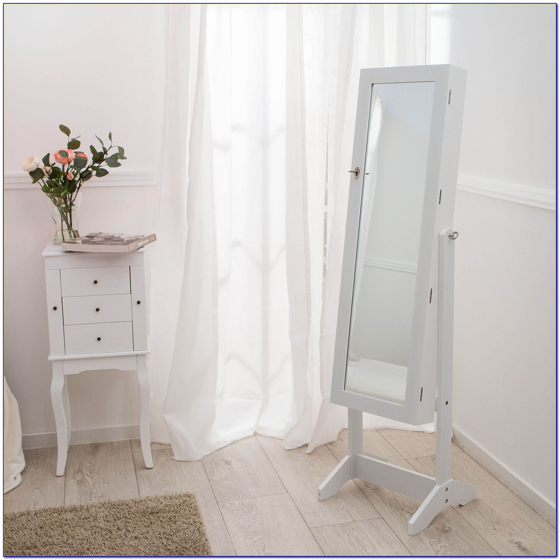 Large Floor Standing Jewelry Box Cabinet