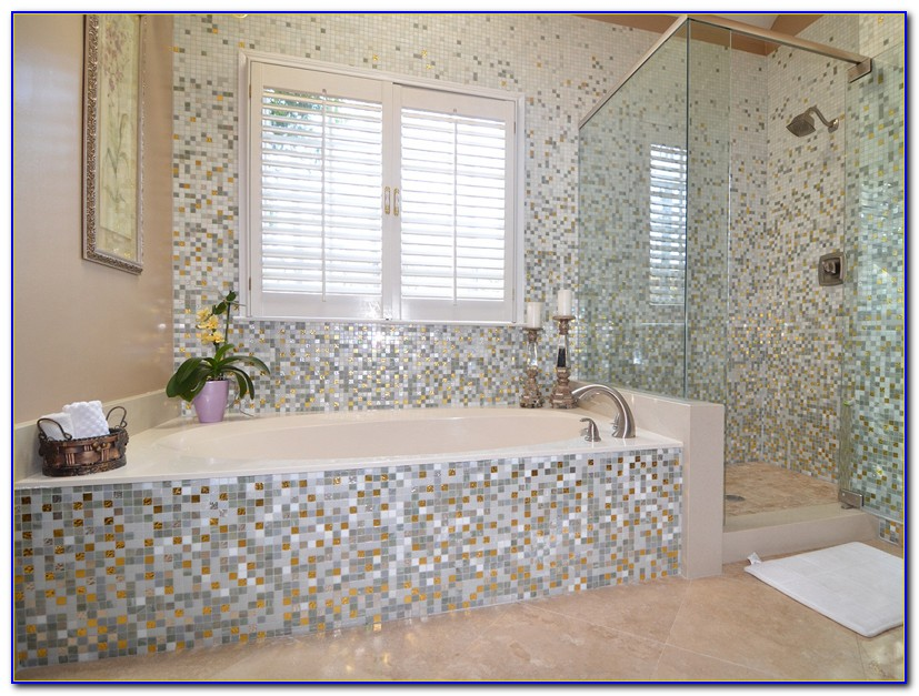Mosaic Tile Patterns Bathroom Floor