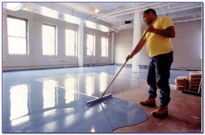 Preparing concrete floor for epoxy coating flooring for Preparing concrete for paint