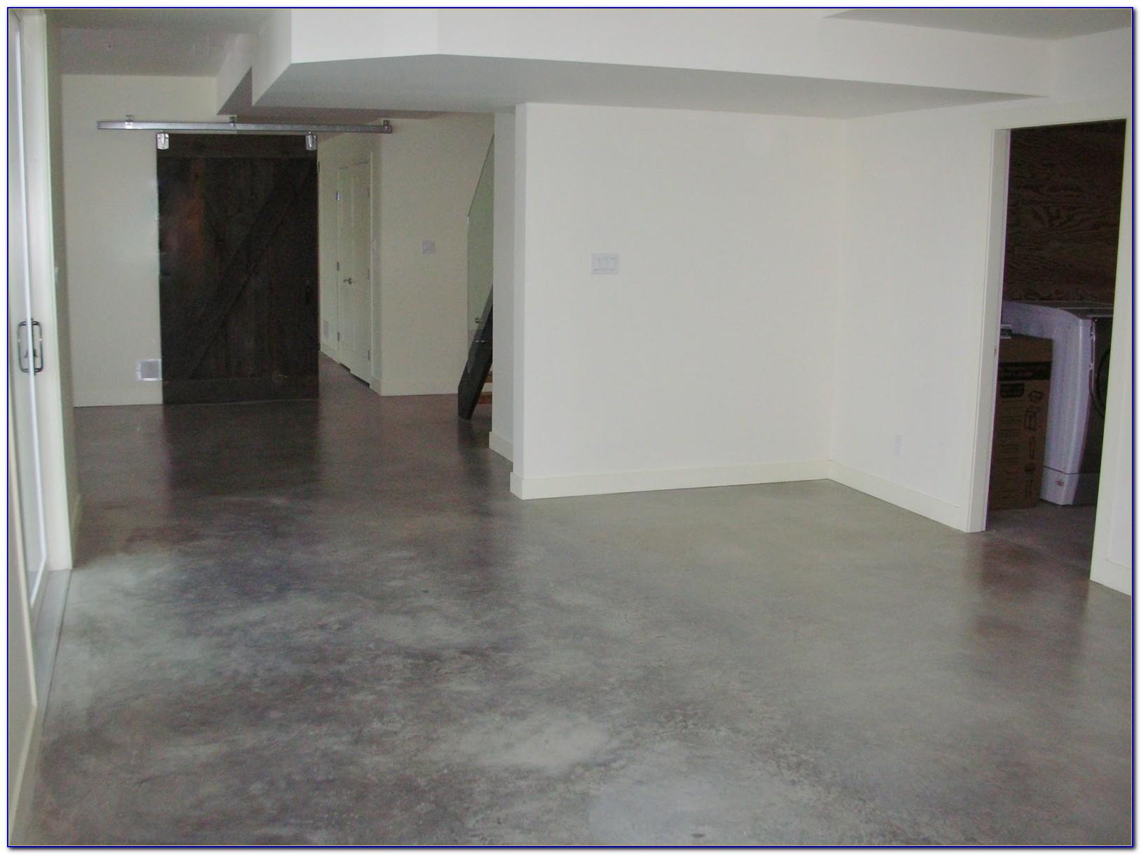 Stained Concrete Basement Floor Ideas