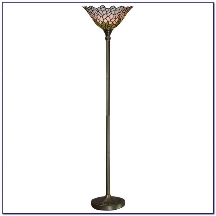 Tiffany Torchiere Uplighter Floor Lamp