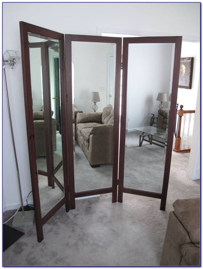 Vintage Tri Fold Floor Mirror Flooring Home Design