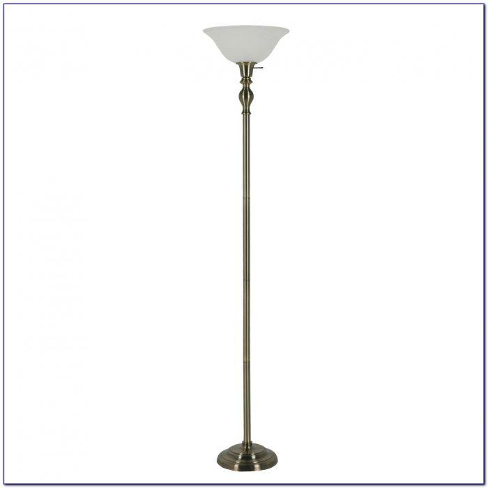 Vintage Brass Torchiere Floor Lamp