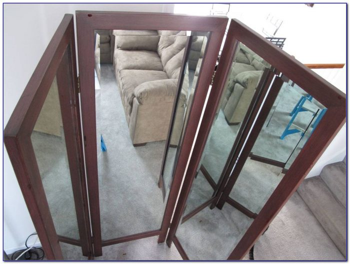 Vintage Tri Fold Floor Mirror