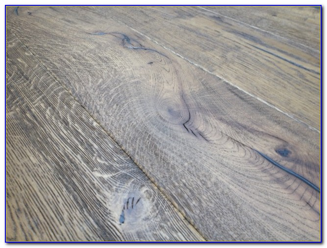 White Distressed Engineered Wood Flooring