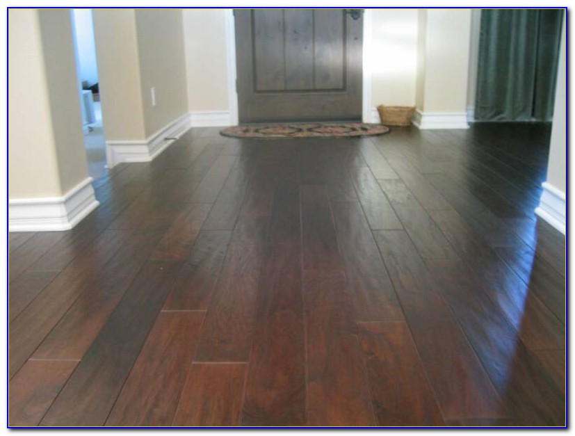 Wide Plank Dark Bamboo Flooring