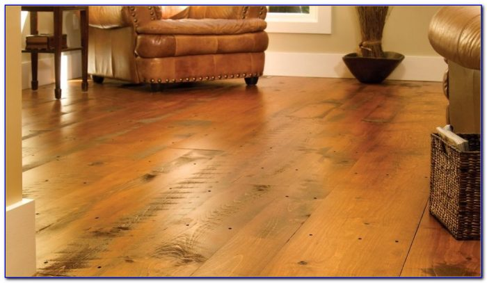 Wide Plank Distressed Hardwood Flooring