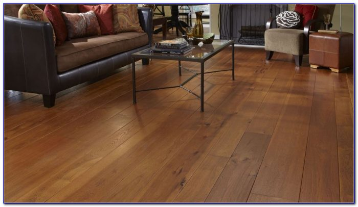 Wide Plank Hand Scraped Hickory Flooring