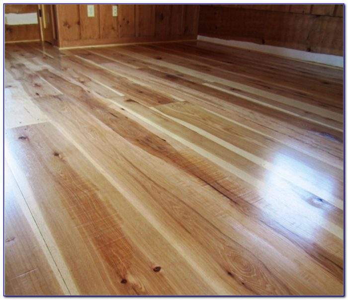 Wide Plank Hickory Wood Flooring