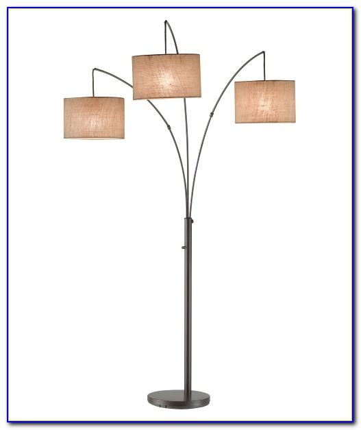 Arc Floor Lamp Orange Shade