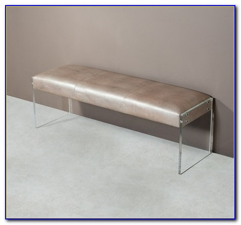 Bench With Acrylic Legs