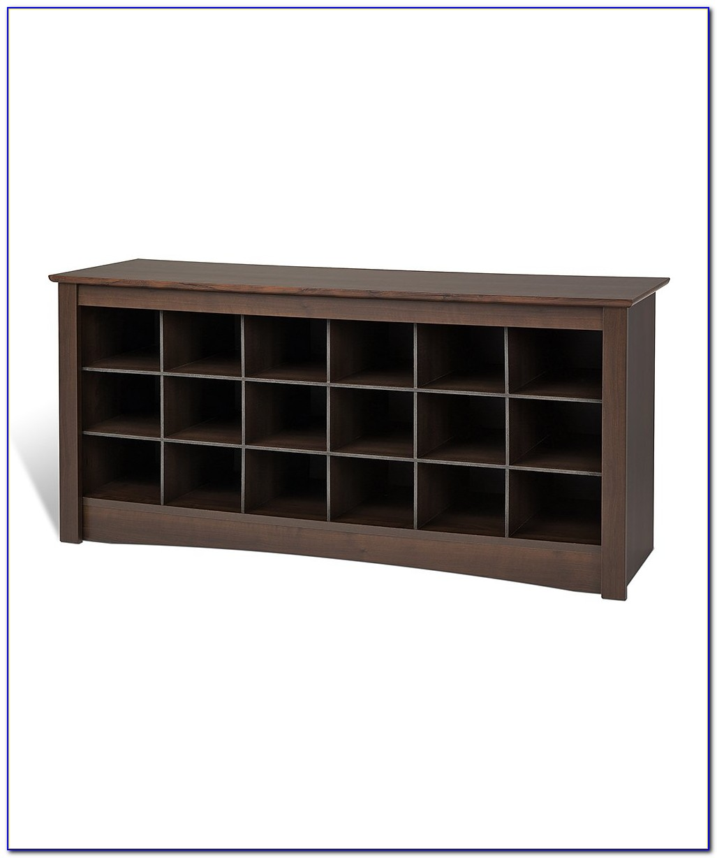 Bench With Shoe Cubby