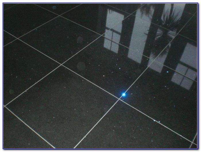Black Glitter Quartz Floor Tiles