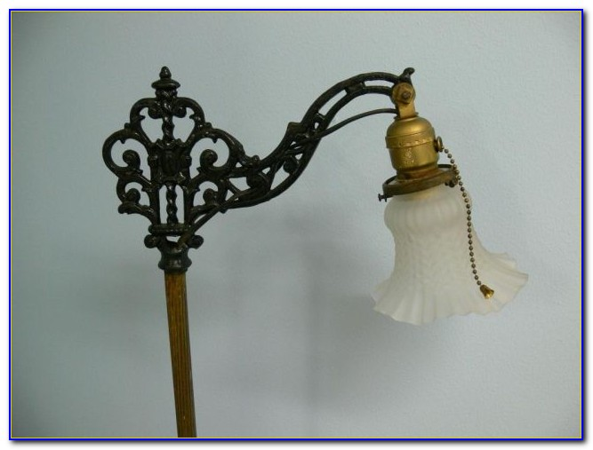 Cast Iron Floor Lamp Vintage