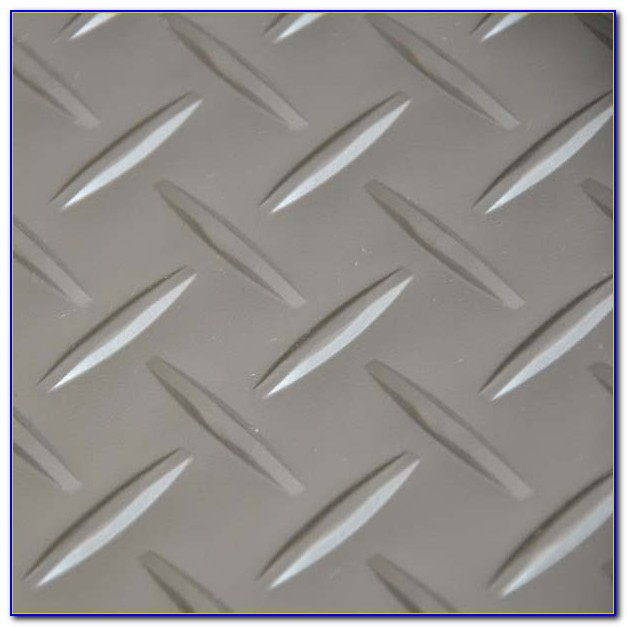 Checker Plate Vinyl Floor Tiles